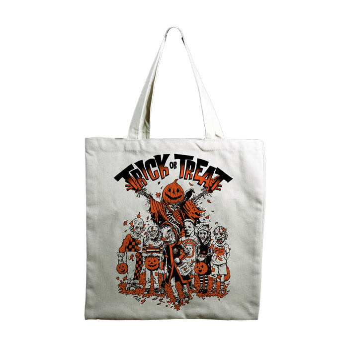Trick or Treat Bag Halloween Tote Bag Candy Corn Witch Halloween Trick or Treat Bag